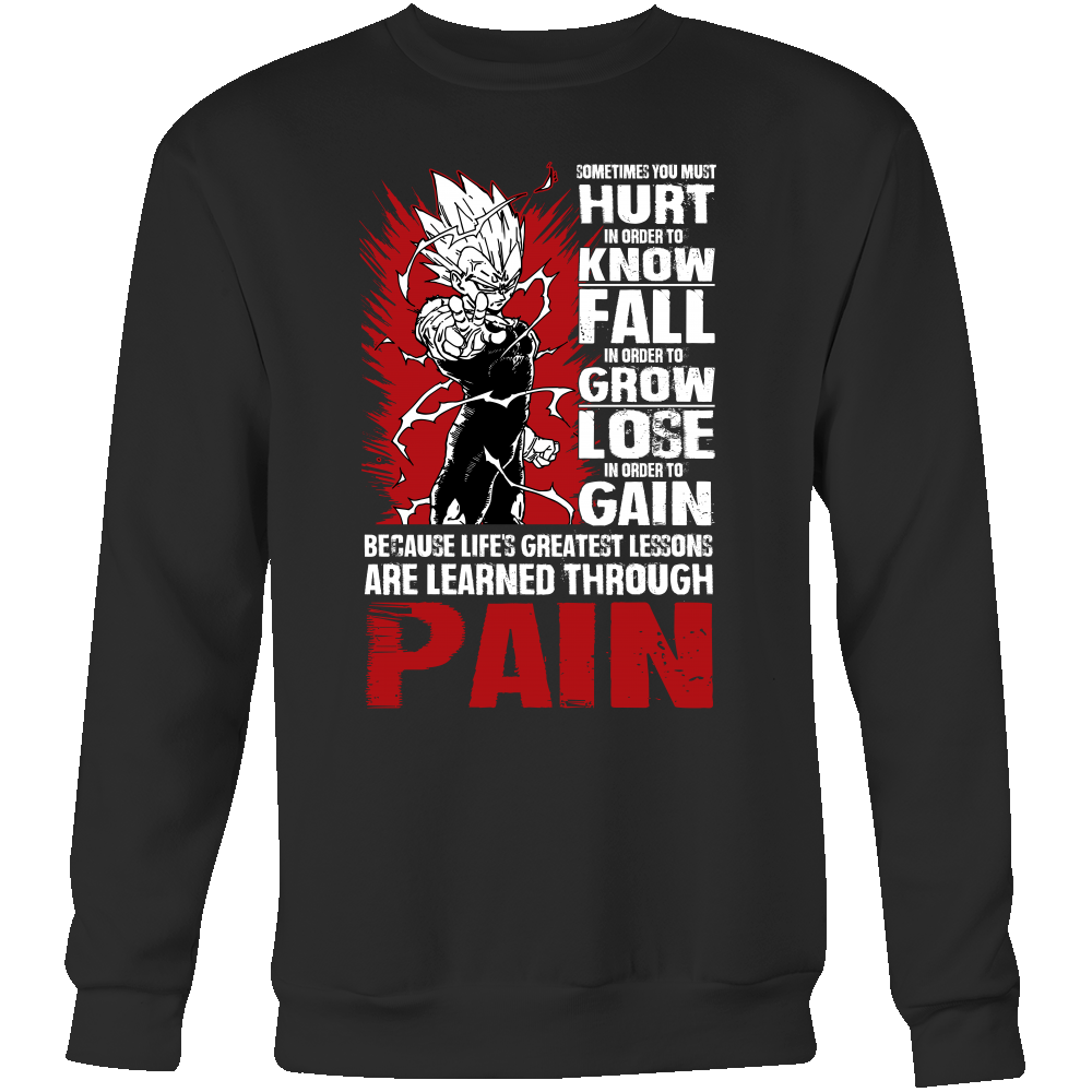 Super Saiyan Majin Vegeta Sweatshirt T shirt - LESSONS FROM PAIN - TL00059SW