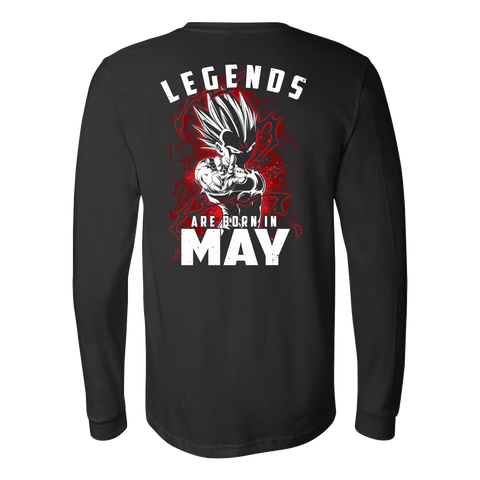Super Saiyan - Lengends all born in May - Unisex Long Sleeve T Shirt - TL01039LS