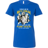 Super Saiyan I May Live in North Carolina Woman Short Sleeve T shirt - TL00075WS