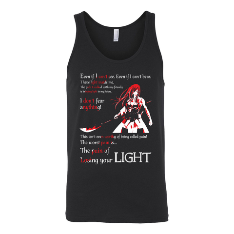 Fairy Tail - The pain of losing your light Erza Scarlet - Unisex Tank Top T Shirt - TL01106TT