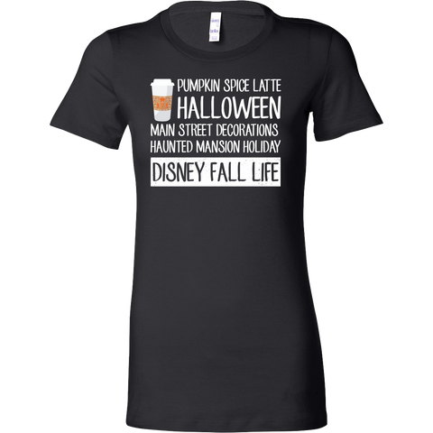 Halloween - disney fall life - Women Short Sleeve T Shirt - TL00702WS