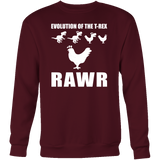 Dinosaur - Evolution Of The T-Rex Rawr - Sweatshirt T Shirt - TL00858SW - The TShirt Collection