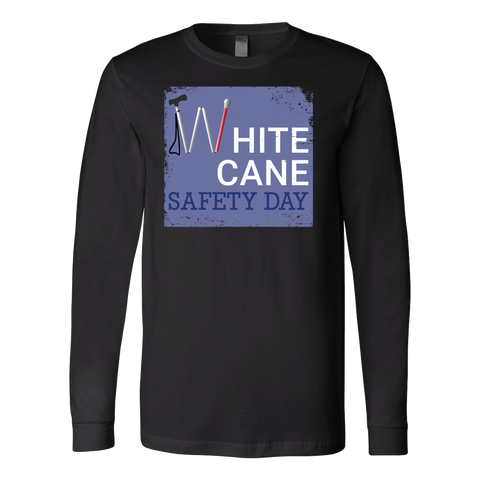 White Cane Safety Day Long Sleeve T Shirt - TL00692LS