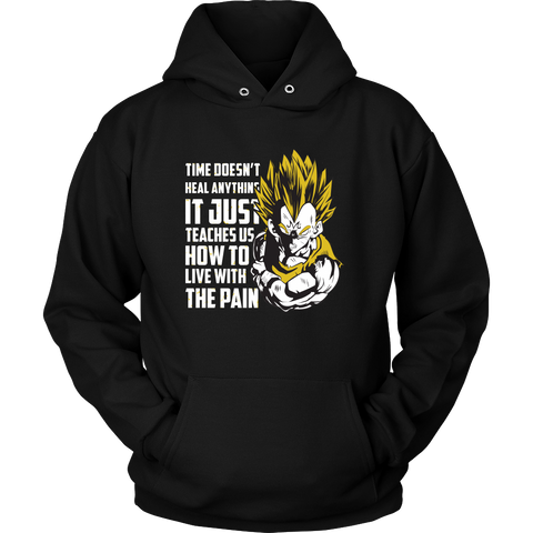 Super Saiyan - Time doesnt heal anything - Unisex Hoodie T Shirt - TL01324HO