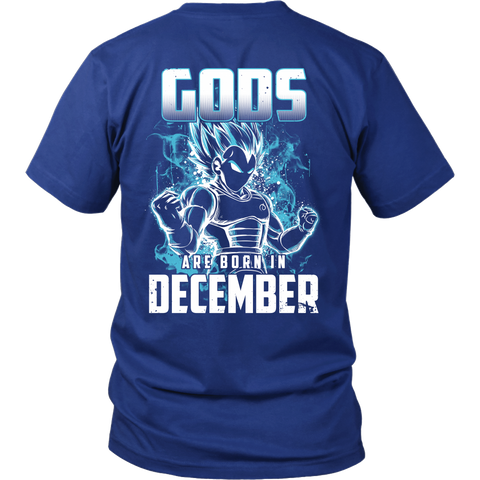 Super Saiyan - Gods all born in december - Men Short Sleeve T Shirt - TL01041SS
