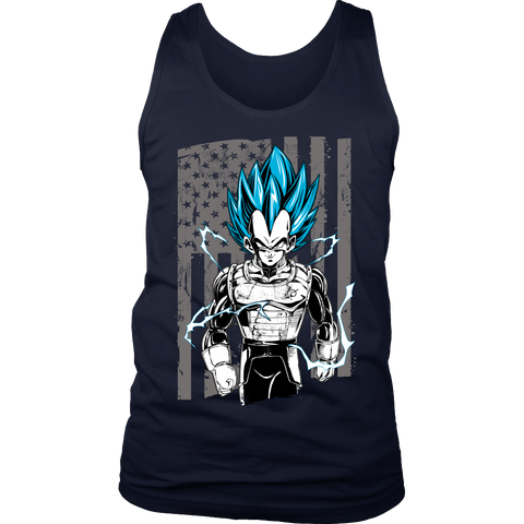 Super Saiyan - America God Vegeta - Unisex Tank Top - TL01271TT