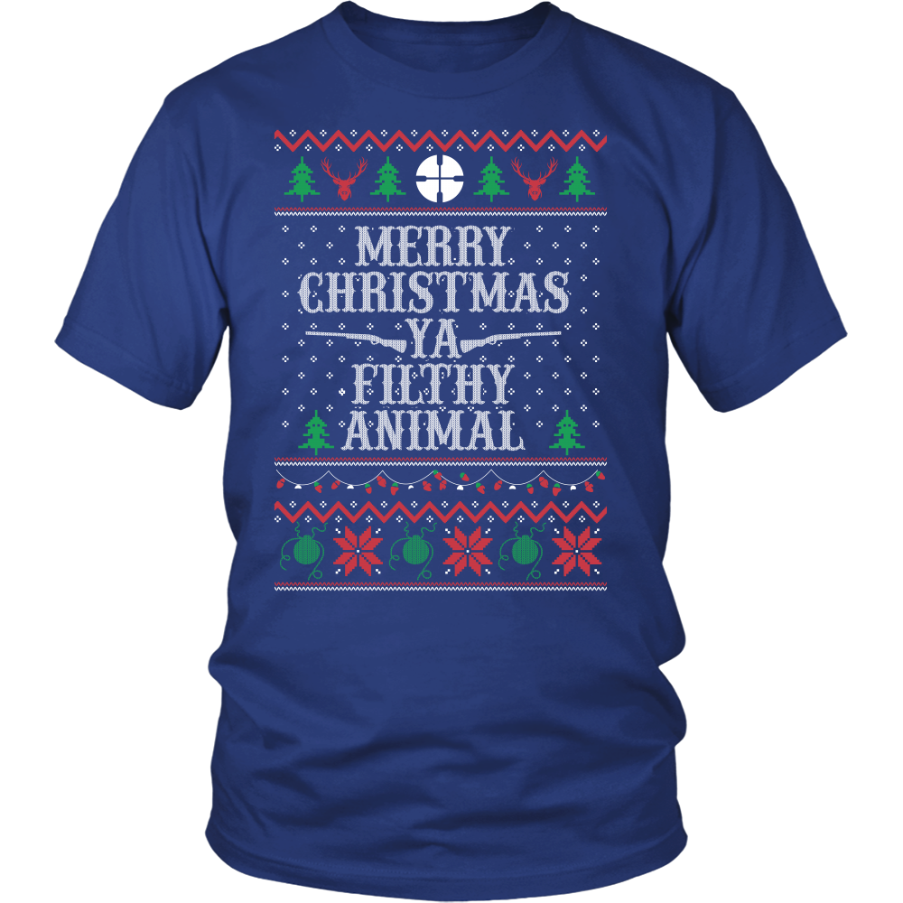 Christmas Short Sleeve - Merry Christmas Ya Filthy Animal - Men Short Sleeve T Shirt - TL01003SS