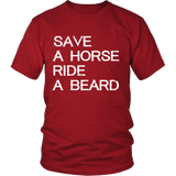 Beards - Save a horse ride a beard - Men Short Sleeve T Shirt - TL01187SS