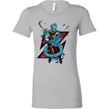 Super Saiyan Goku God Blue with shenron Woman Short Sleeve T Shirt- TL00245WS