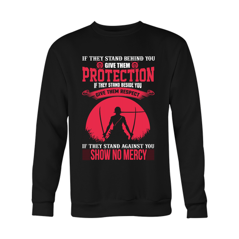 One Piece - If they stand behind you give them protection zoro version - Unisex Sweatshirt T Shirt - TL01069WS