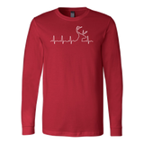 Christmas - HUNTING HEARTBEAT, GLOW IN THE DARK - Unisex Long Sleeve T Shirt - TL00975LS - The TShirt Collection