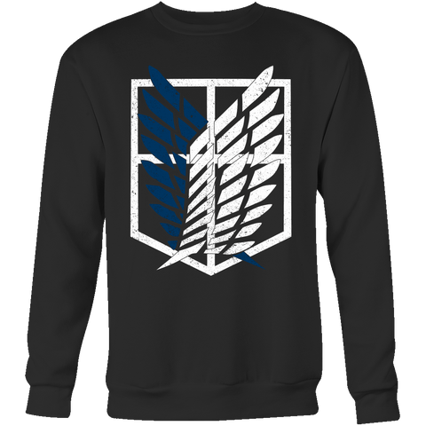Attack on titan - survey corps logo - Unisex Sweatshirt T Shirt - TL01192SW