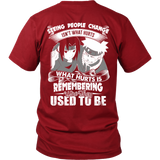 Naruto - Seeing people change isnt what hurts - Men Short Sleeve T Shirt- TL01215SS