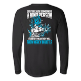 Super Saiyan Goku God Show Mercy in Battle Long Sleeve T shirt - TL00439LS