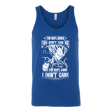 Super Saiyan Vegeta Dont Care Unisex Tank Top T Shirt- TL00283TT