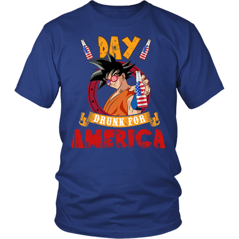 Super Saiyan - Day Drunk For American - Unisex Long Sleeve - TL01372SS