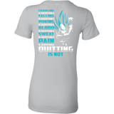 Super Saiyan Vegeta Pain Is Acceptable Quitting Is Not Woman Short Sleeve T Shirt - TL00560WS