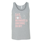 Pet - Cats, Dogs, Mermaids, Unicorns - Unisex Tank Top T Shirt - TL00736TT