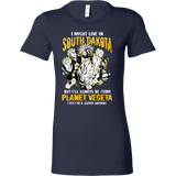Super Saiyan I May Live in South Dakota Woman Short Sleeve T Shirt - TL00107WS