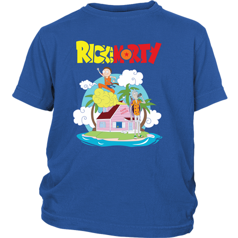 Rick And Morty - Kame House - Youth Kid T Shirt - TL01147YS