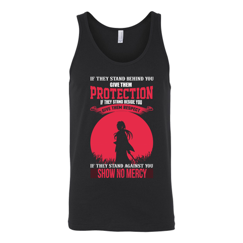 Rurouni Kenshin - If They Stand Against You, Show No Mercy - Unisex Tank Top T Shirt - TL01078TT