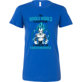 Super Saiyan Vegeta God Fair Otherwise Woman Short Sleeve T Shirt - TL00552WS