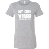 My code works i have no idea why programming Women Short Sleeve Funny T Shirt - TL00615WS