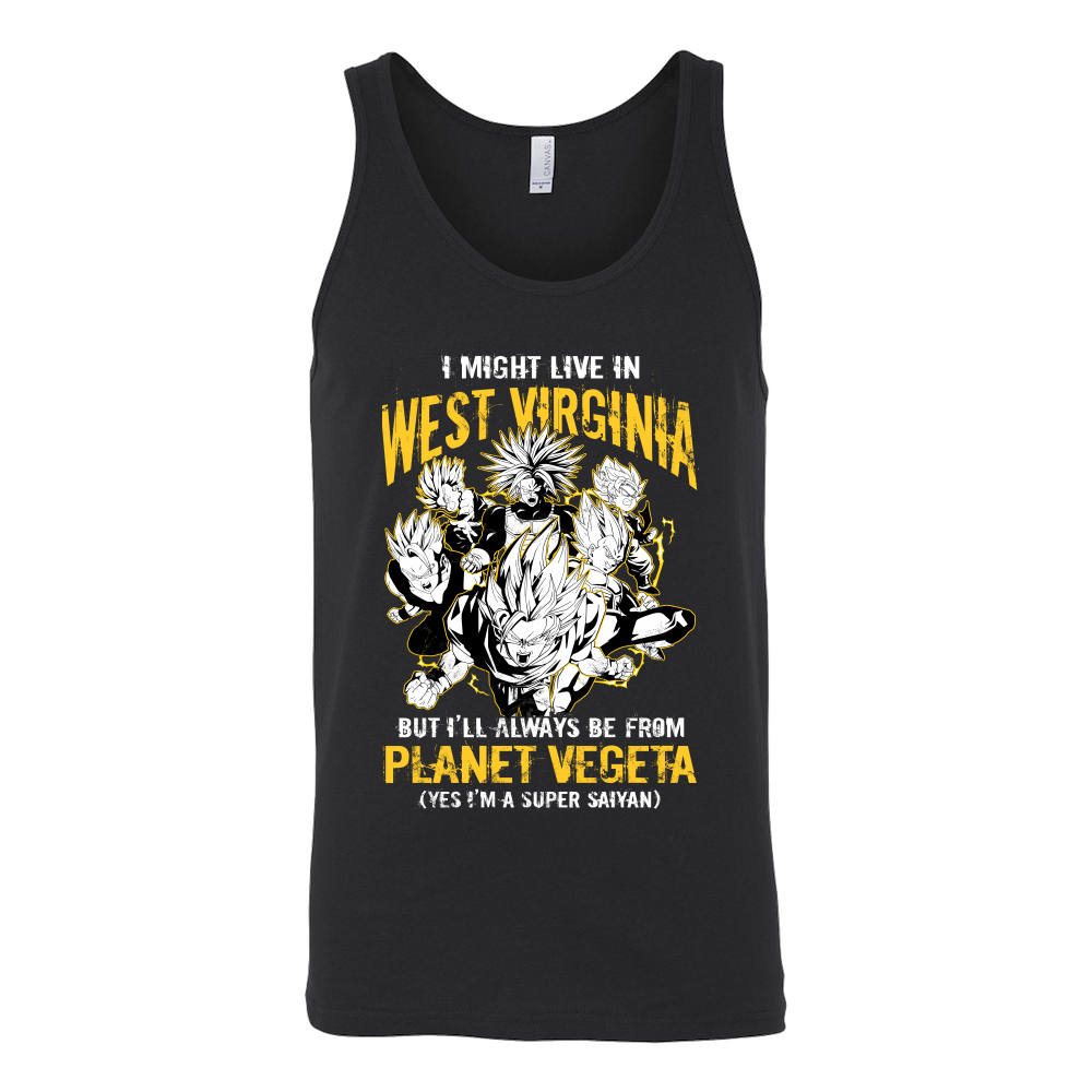 Super Saiyan West Virginia Unisex Tank Top T Shirt - TL00097TT