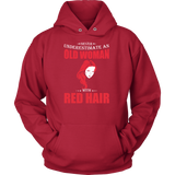 Hobbies - Never underestimate an old woman with red head - unisex hoodie t shirt - TL00831HO