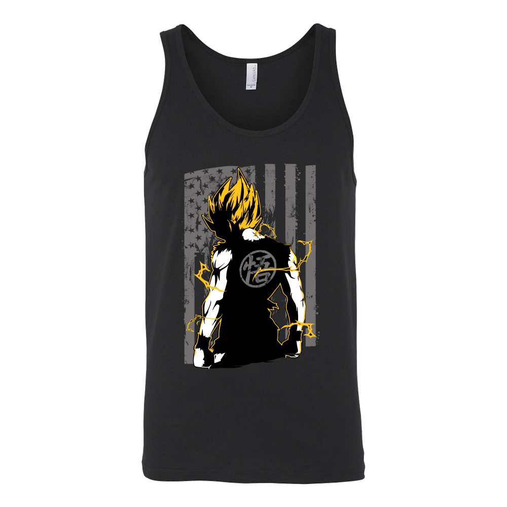 American Super Saiyan Goku Unisex Tank Top T Shirt - TL00046TT - The TShirt Collection