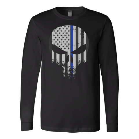 Threadrock Honor & Respect Skullcap Long Sleeve T Shirt - TL00636LS