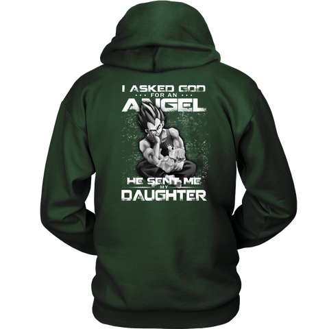 Super Saiyan - God sent me my daughter - Back - Unisex Hoodie T Shirt - TL01299HO