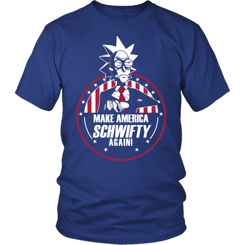 Rick And Morty - Make America schwifty again - Men Short Sleeve T Shirt - TL01136SS