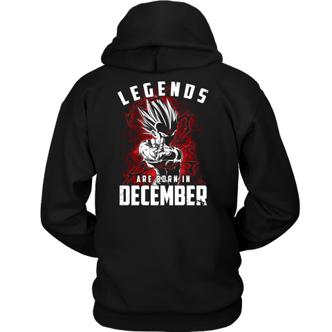Super Saiyan - Lengends all born in december - Unisex Hoodie T Shirt - TL01029HO