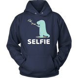 Dinosaur - Selfie - Unisex Hoodie T Shirt - TL00860HO - The TShirt Collection