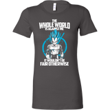 Super Saiyan Vegeta God Fair Otherwise Woman Short Sleeve T Shirt - TL00541WS