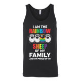 LGBT- I am the rainbow sheep - Unisex Tank Top T Shirt - TL00985TT