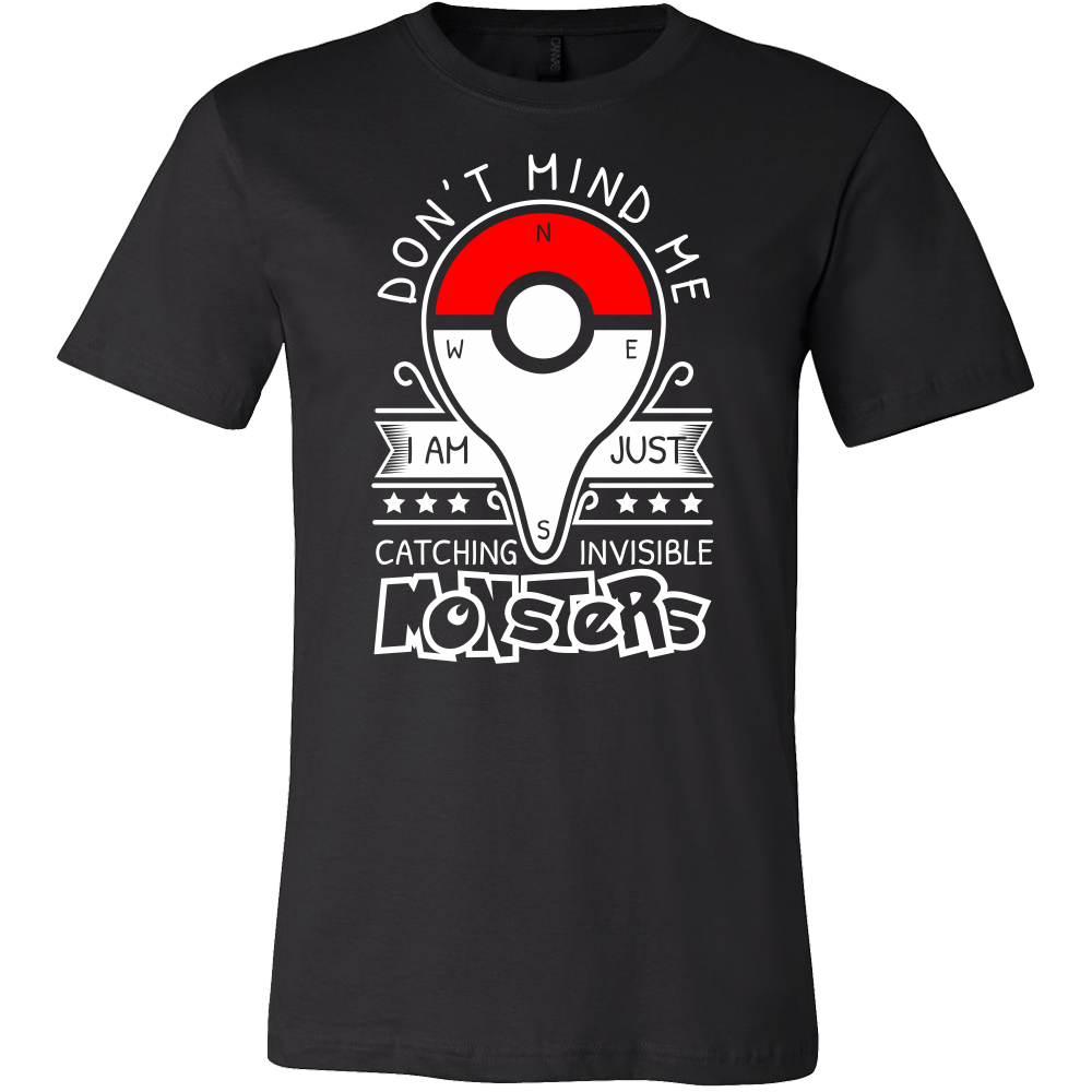 c41071cc Pokemon dont mind me I am just here catching invisible monster Men Short  Sleeve T Shirt - TL00625SS
