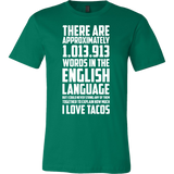 Taco mexican no words can explain how much i love tacos cute Men Short Sleeve Funny T Shirt - TL00572SS