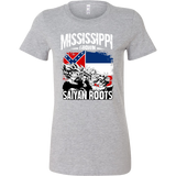 Super Saiyan Mississippi Grown Saiyan Roots Woman Short Sleeve T Shirt - TL00164WS