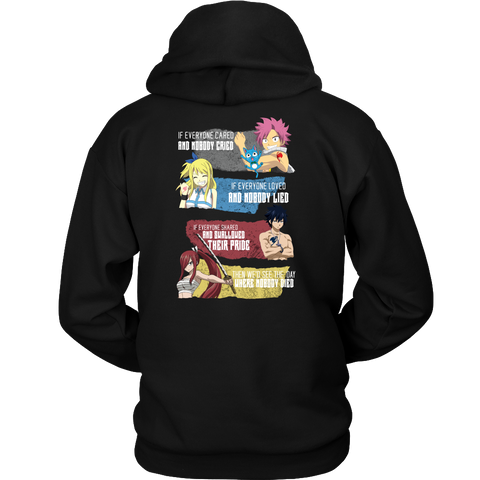 Fairy Tail - Then we would see the day where nobody died 2 - Unisex Hoodie T Shirt - TL01120HO