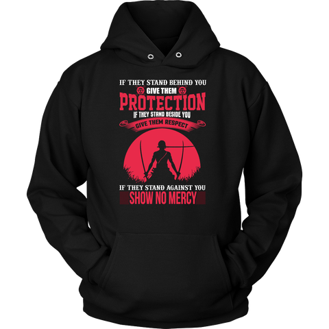 One Piece - If they stand behind you give them protection zoro version - Unisex Hoodie T Shirt - TL01069HO