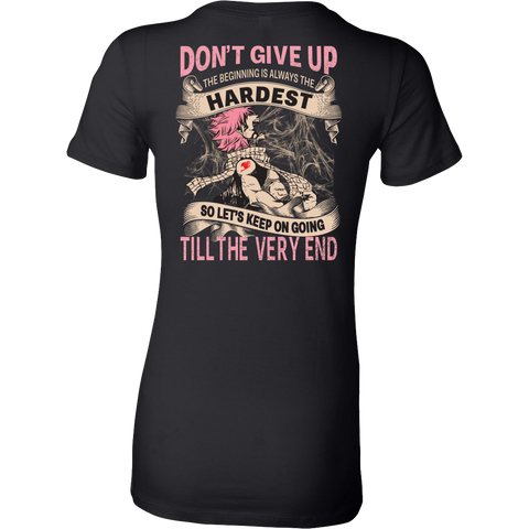 Fairy Tail - DON'T GIVE UP Natsu Dragneel - Woman Short Sleeve T Shirt - TL01128WS