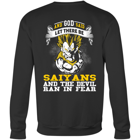 Super Saiyan - Saiyan and the devil ran in fear - Unisex Sweatshirt T Shirt - TL01184SW