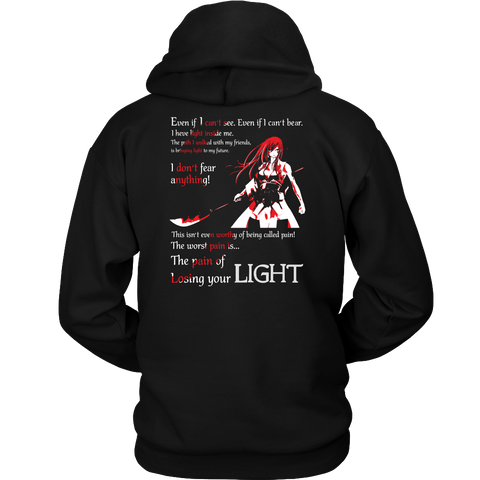 Fairy Tail - The pain of losing your light Erza Scarlet - Unisex Hoodie T Shirt - TL01106HO