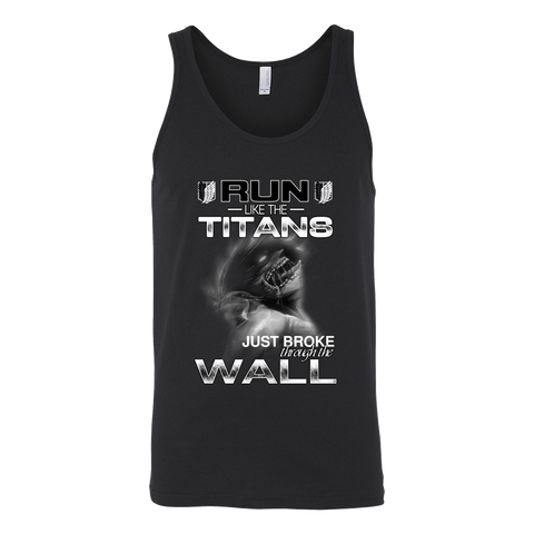 Attack On Titan - Run Like The Titans - Unisex Tank Top T Shirt - TL01270TT