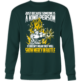 Super Saiyan Goku Show Mercy in Battle Sweatshirt T Shirt - TL00440SW