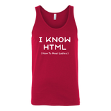 I know html programming Unisex Tank Top Funny T Shirt - TL00617TT