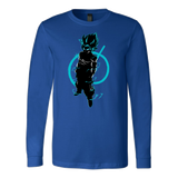 SUPER SAIYAN GOKU GOD BLUE LONG SLEEVE SHIRT - TL00174LS