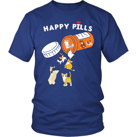Cat - Happy Pills - Men Short Sleeve T Shirt - TL01199SS